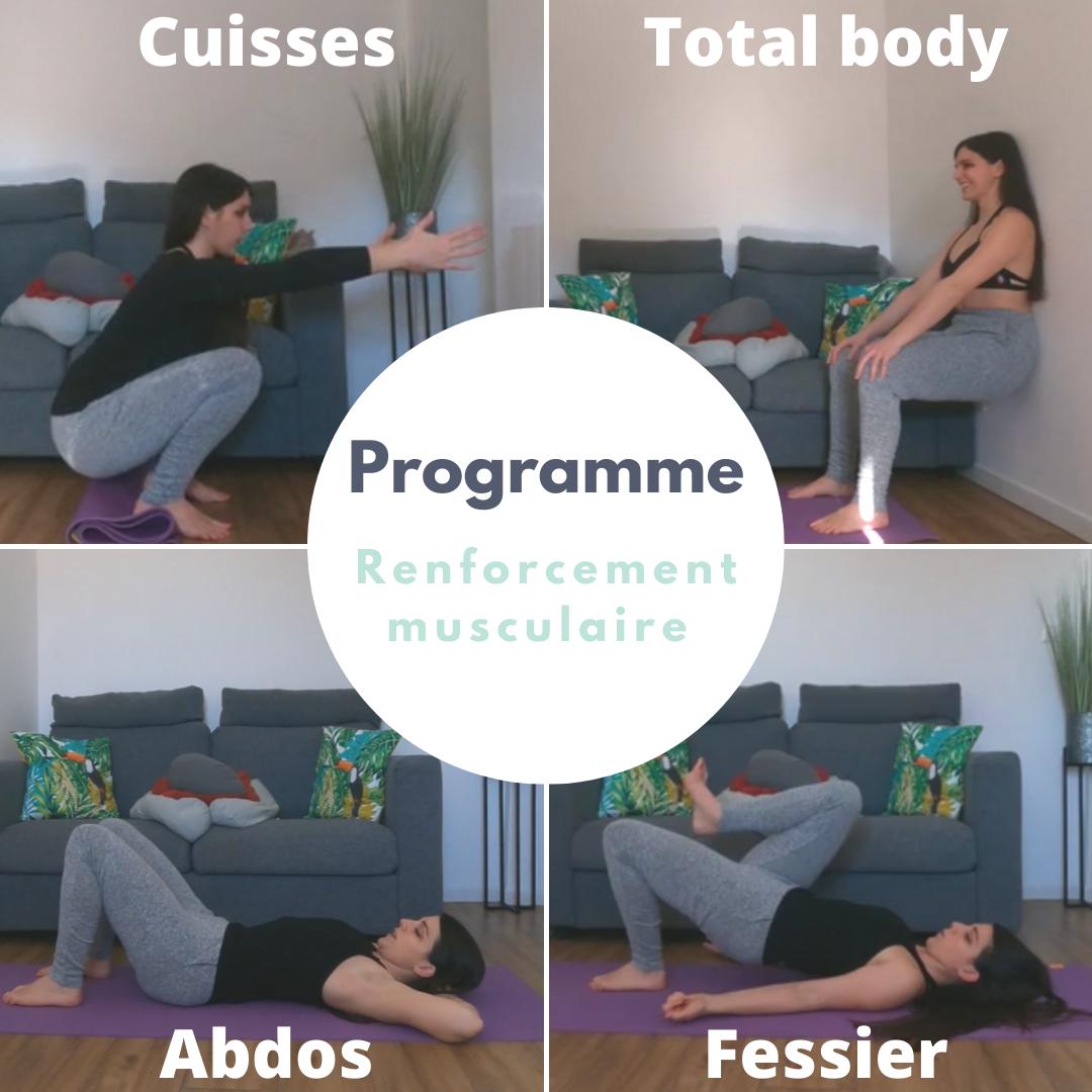 pack vidéos de renforcement musculaire